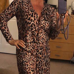 Tops - Cardigan/dress leopard/cheetah print